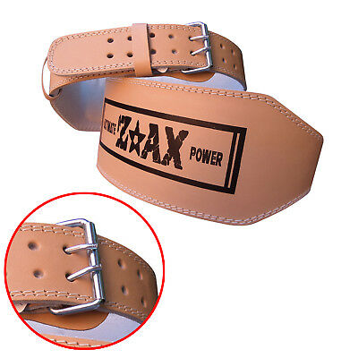 ZstarAX Leather Weight Lifting Belt Body Building Gym Back Support Belt WIDE 6""