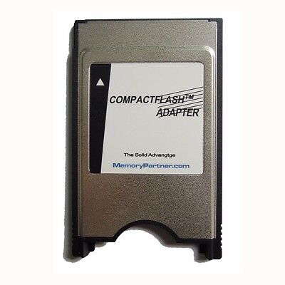 PCMCIA TO CF CompactFlash Memory Card - Laptop Adapter Reader Converter New