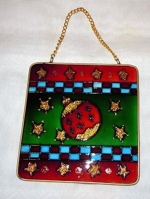 Stained Glass Holiday Ornament Hanging Plaque/Suncatcher - NEW