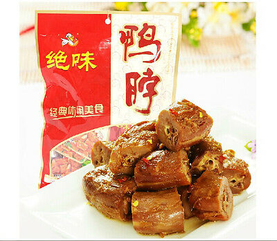 3xChineses Specialty Food Snack Spicy Jue Wei Vacuum-packed Duck Neck 600g-绝味鸭脖