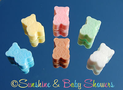TEDDY BEAR SOAPS Gorgeous Baby Shower Favours Game Prizes Boy Girl Neutral
