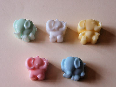 5 ELEPHANT SOAPS Gorgeous Baby Shower Favours Game Prizes Gift Boy Girl Neutral