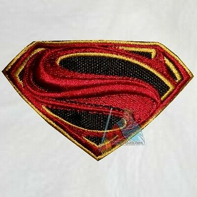 Superman Man of Steel Logo Embroidered Patch Super Friends Powers Clark Kent