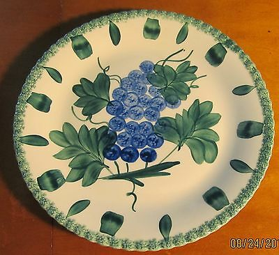 Southern Potteries Blue Ridge ~ Grape Salad ~ Chop Plate 11 1/2""