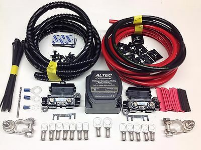 10mtr Split Charge Relay Kit 12v 140amp Intelligent M-Power Relay 110amp Cables