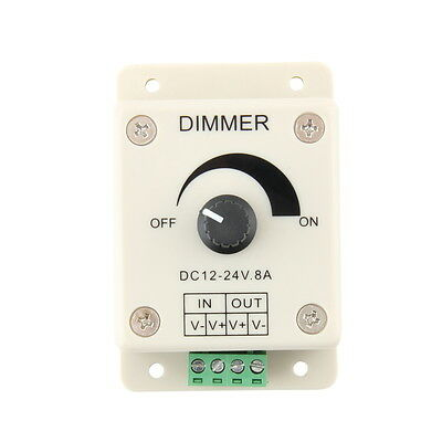 DC 12V 8A LED Light Protect Strip Dimmer Adjustable Brightness Controller  OK