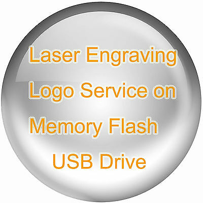 Laser Engrave Logo Service on Metal or Wood Memory Flash USB Drive Custom Design