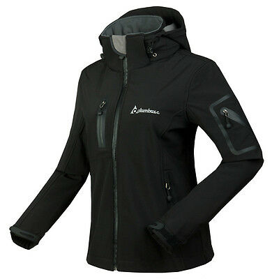 New Womens Breathable Softshell Slim Fleece Lined Hooded SKi Snow Jackets Small