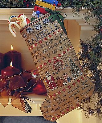 Sampler Stocking Five Counted X-Stitch Pattern