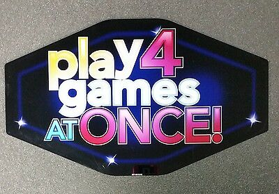 IGT Slot Machine Polygon Topper Insert PLAY FOUR 4 GAMES AT ONCE!