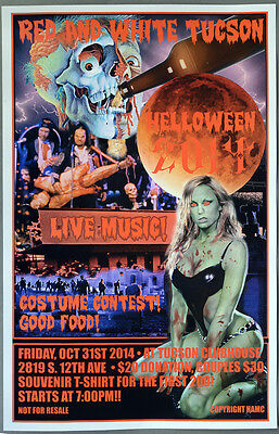 "Hells Angels Tucson - RED AND WHITE TUCSON ""HELLOWEEN 2014"" - Event Poster"