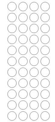 "3/4"" CLEAR Round Color Code Inventory Label Dot Stickers Package Seals"
