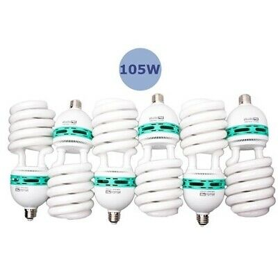 StudioPRO 105W Photo Video Fluorescent Spiral Daylight Light Bulbs 6-Pack 5500K