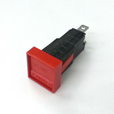 New Littelfuse 348811 3AG Low Profile Snap In Panel Mount Fuse Holder Red/ Red