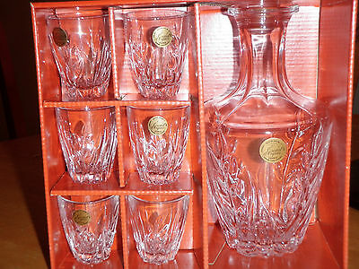 CRISTAL D' ARQUES DECANTER WITH 6 CORDIAL