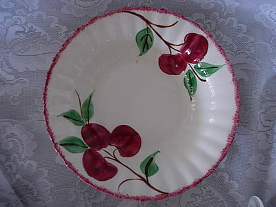 Vtg. BLUE RIDGE SOUTHERN POTTERIES Crab Apple Hand Painted Round Vegetable Bowl