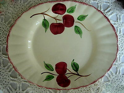 "Vintage BLUE RIDGE SOUTHERN POTTERIES Crab Apple HandPainted 14 1/8""Oval Platter"