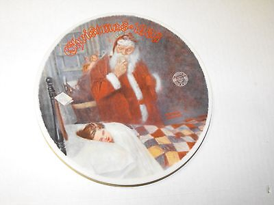 Knowles Deer (Dear) Santy 1986 Christmas Holiday Plate  Rockwell Santa Claus