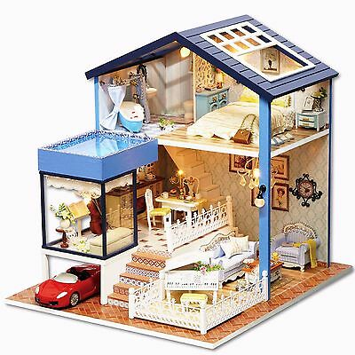 DIY Handcraft Miniature Project Wooden Dolls House My Little Villa in Seattle