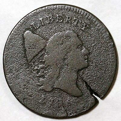 1795 C-6a Liberty Cap Half Cent Coin 1/2c