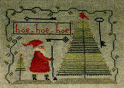 Hoe, Hoe, Hoe counted X-stitch pattern