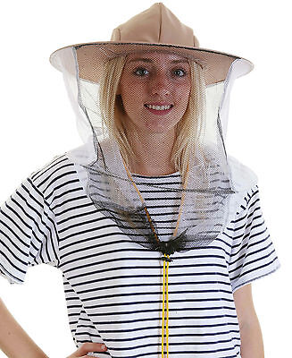 [UK] Beekeeping LATTE BEE HAT AND VEIL - Double hoop and toggle
