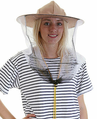 [UK] 5 x Beekeeping LATTE BEE HAT AND VEILS - Double hoop and toggle
