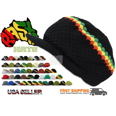 Rasta Hat Jamaica Marley Reggae Cap Rastafari Dreadlocks Tam Roots Cotton Africa