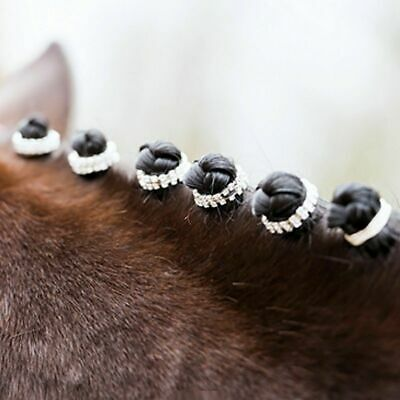 Crystal Diamante Plaiting Bands Cover Reusable Mane Decoration For Arena Sparkle