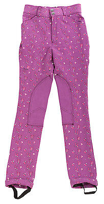 Daisy Clipper Children's Purple Patterned Riding Jodhpurs