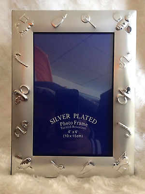 silver plated baby photo frame for both boys and girls