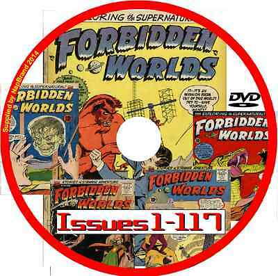 Forbidden Worlds Comics on DVD  117 issues includes viewing software