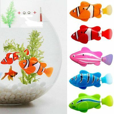 Fashion Swim Robofish Activated Robo Fish Toy Fish Robotic Pet w/ Water Plants