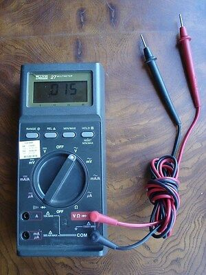 Fluke 27 Multimeter with Leads   Guaranteed to Work