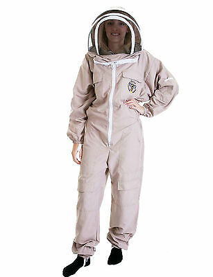 Lightweight BUZZ Beekeepers Bee suit - Colour latte, Size: LARGE