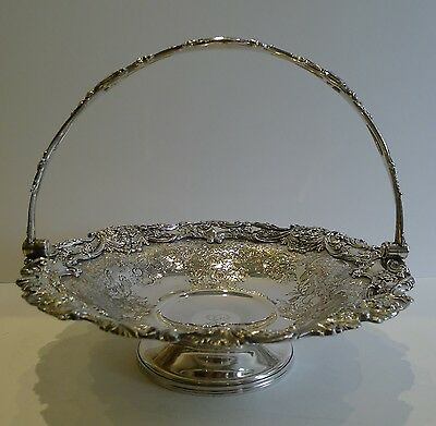 Finest Quality Antique English Fruit Basket In Old Sheffield Plate c.1850