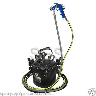 Complete  Spray Package Paint Pressure Pot / Tank 10Ltr No Agitator