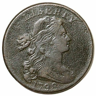 1798 S-166 Draped Bust Large Cent Coin 1c