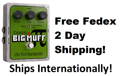 New Electro-Harmonix EHX Bass Big Muff Pi Distortion Sustainer Pedal!