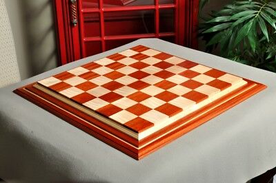 "Signature Contemporary IV Luxury Chess board - BLOODWOOD / CURLY MAPLE - 2.5"" Sq"