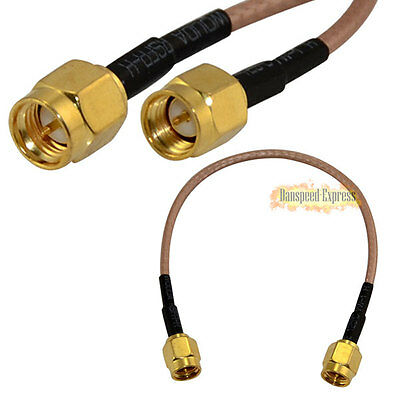 15cm 6inch SMA Male to Male Plug RF Coaxial Jumper Pigtail Extension Cable RG316