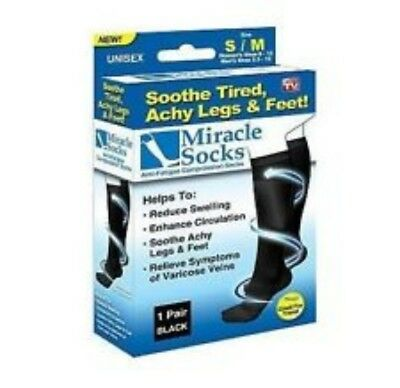 4 Pairs x Travel Compression Socks for DVT-Spider-Varicose Veins (FCTC80MS)