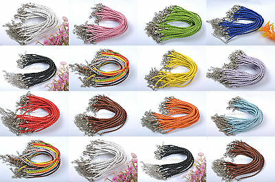 Wholesale 10pcs Braid Rope Leather Bracelets - Many Colors To Choose