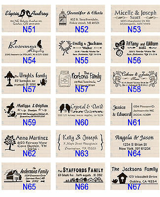 Custom pre Self Inking Personalized name wedding return address rubber stamp
