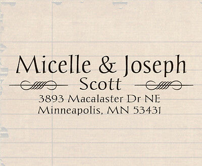 Custom pre Self Inking Personalized name business family return address stamp