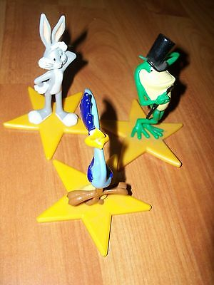 1996 Applause Warner Bros Looney Tunes Set 3 Cake Toppers Star Figures