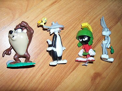 Applause Warner Bros Looney Tunes Set 4 Cake Toppers Taz Sylvester Marvin Bugs