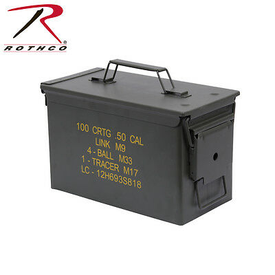 2102 Rothco Olive Drab .50 Cal Military Steel Ammo Can