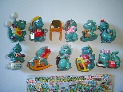 Kinder Surprise Set - Dapsy Dino Family Dinosaurs 1997 - Figures Collectibles