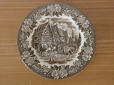 "10"" Vintage English Ironstone Tableware Plate in the 'Dickens Series'"